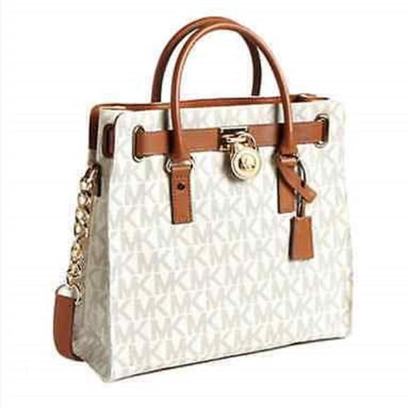 Michael Kors Handbags - Michael Kors LG. Hamilton N /S PVC Signature Tote
